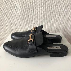 f635a4c01e6 Steve Madden Shoes - Steve Madden Black Kandi loafer slides 8 7.5